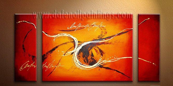 Handmade Art deco Modern abstract oil painting on Canvas set 09087