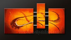 Handmade Art deco Modern abstract oil painting on Canvas set 09088