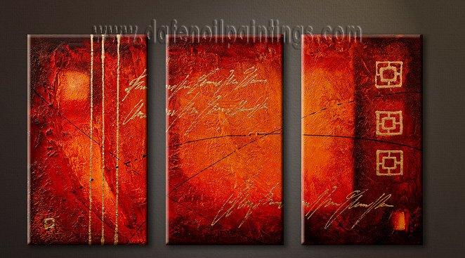 Handmade Art deco Modern abstract oil painting on Canvas set 09094