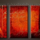 Handmade Art deco Modern abstract oil painting on Canvas set 09094