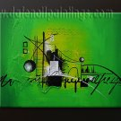 Handmade Art deco Modern abstract oil painting on Canvas set 09098