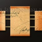 Handmade Art deco Modern abstract oil painting on Canvas set 09099