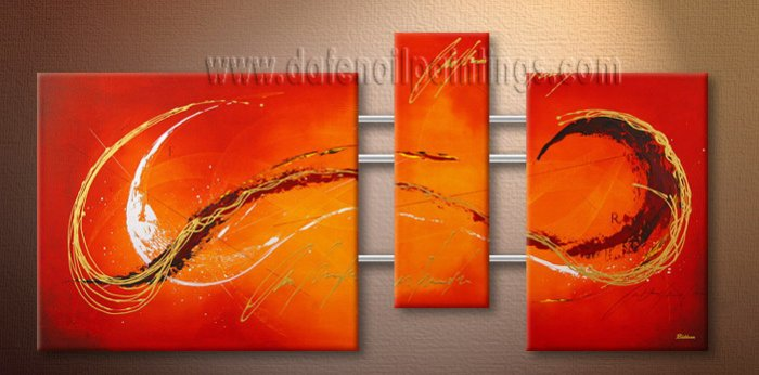 Handmade Art deco Modern abstract oil painting on Canvas set 09119