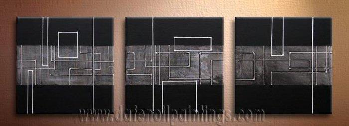 Handmade Art deco Modern abstract oil painting on Canvas set 09130