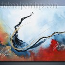 Handmade Art deco Modern abstract oil painting on Canvas set 09136
