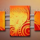 Handmade Art deco Modern abstract oil painting on Canvas set 09138