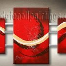 Handmade Art deco Modern abstract oil painting on Canvas set 09149