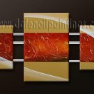 Handmade Art deco Modern abstract oil painting on Canvas set 09155