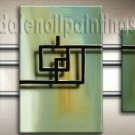Handmade Art deco Modern abstract oil painting on Canvas set 09159