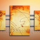Handmade Art deco Modern abstract oil painting on Canvas set 09161