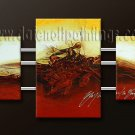 Handmade Art deco Modern abstract oil painting on Canvas set 09164