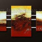 Handmade Art deco Modern abstract oil painting on Canvas set 09164