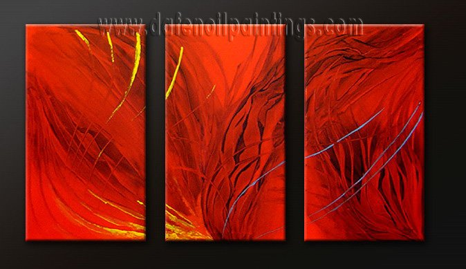 Handmade Art deco Modern abstract oil painting on Canvas set 09178