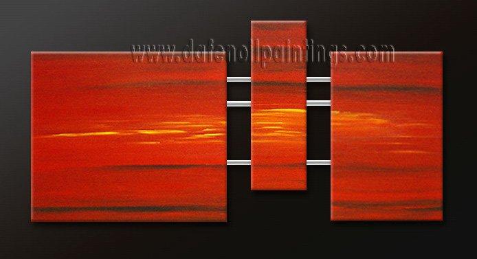 Handmade Art deco Modern abstract oil painting on Canvas set 09180