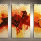 Handmade Art deco Modern abstract oil painting on Canvas set 09184