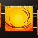 Handmade Art deco Modern abstract oil painting on Canvas set 09185