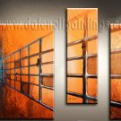 Handmade Art deco Modern abstract oil painting on Canvas set 09187