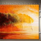 Handmade Art deco Modern abstract oil painting on Canvas set 09191