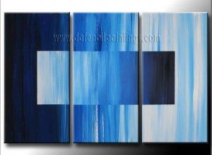 Handmade Art deco Modern abstract oil painting on Canvas set 09202