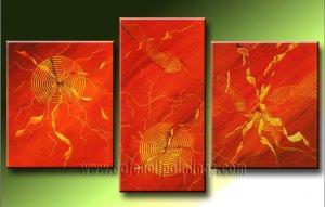Handmade Art deco Modern abstract oil painting on Canvas set 09218