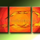 Handmade Art deco Modern abstract oil painting on Canvas set 09219