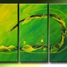 Handmade Art deco Modern abstract oil painting on Canvas set 09225
