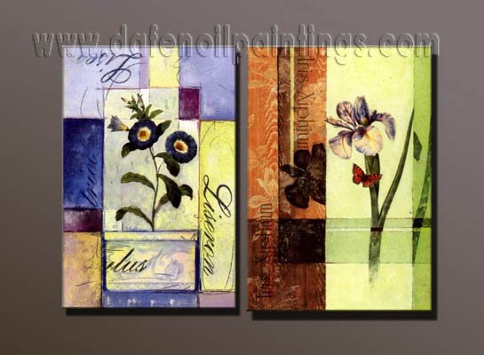 100% handmade Art deco Modern abstract oil paintings on Canvas set10002