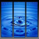 100% handmade Art deco Modern water drop oil paintings on Canvas set10012