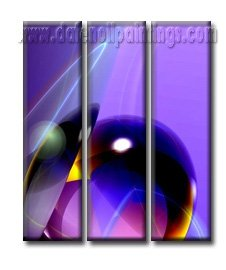 100% handmade Art deco Modern abstract oil paintings on Canvas set10016