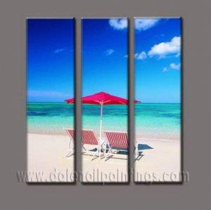 100% handmade Art deco Modern seacoast oil paintings on Canvas set10027