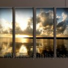 Handmade Art deco Modern setting sun oil painting on Canvas set 10038