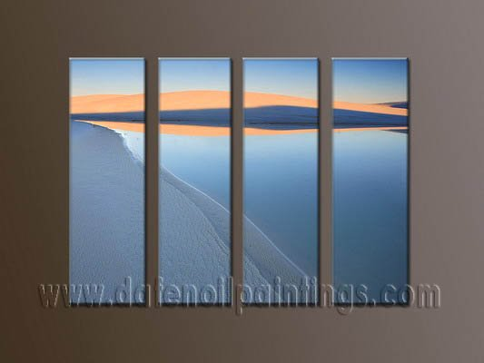 Handmade Art deco Modern seascape oil painting on Canvas set 10042