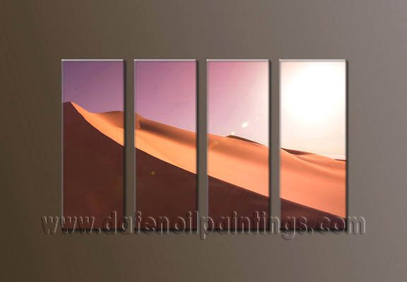 Handmade Art deco Modern desert oil painting on Canvas set 10045