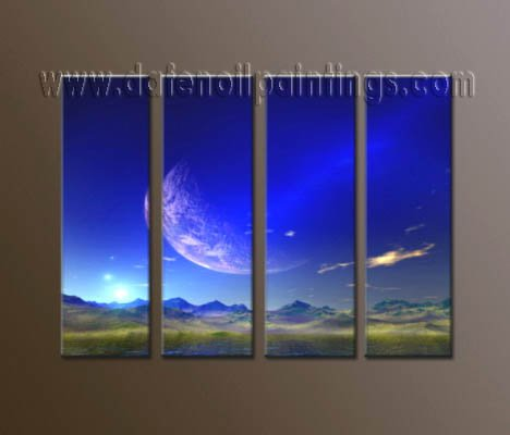 Handmade Art deco Modern abstract oil painting on Canvas set 10047