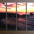 Modern Contemporary oil paintings on Canvas sunrise painting set10055
