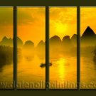 Modern Contemporary oil paintings on Canvas sunglow painting set10056