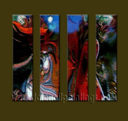 Modern Contemporary oil paintings on Canvas abstract painting set10061
