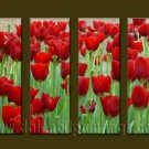 Modern Contemporary oil paintings on Canvas flower painting set10062