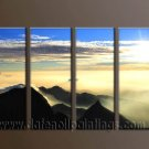 Modern Contemporary oil paintings on Canvas sunrise painting set10076