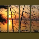 Modern Contemporary oil paintings on Canvas sunrise painting set10079
