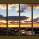 Modern Contemporary oil paintings on Canvas sunrise painting set10082