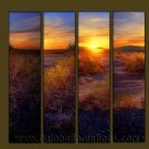 Modern Contemporary oil paintings on Canvas sunrise painting set10085