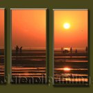 Modern Contemporary oil paintings on Canvas sunrise painting set10086