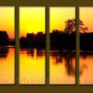 Modern Contemporary oil paintings on Canvas sunrise painting set10091