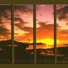 Modern Contemporary oil paintings on Canvas sunrise painting set10094