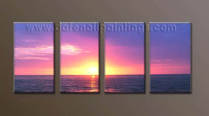 Modern Contemporary oil paintings on Canvas sunrise painting set10105