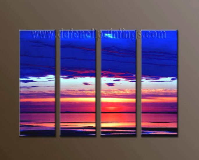 Modern Contemporary oil paintings on Canvas sunrise painting set10112