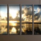 Modern Contemporary oil paintings on Canvas sunrise painting set10113