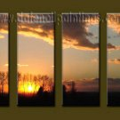Modern Contemporary oil paintings on Canvas sunrise painting set10129