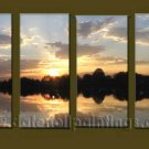 Modern Contemporary oil paintings on Canvas sunrise painting set10130